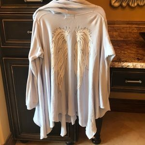 Wildfox Gray Poncho with beautiful wings on back